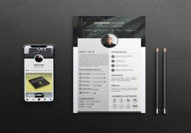تصميم سيرة ذاتية Resume
