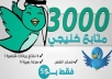 3000 متابع تويتر خليجي حقيقي