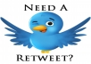 أحصل على 1000 ريتويت أو 1000 مفضلة لتغريداتك على تويتر بجودة عالية