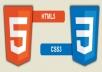 تصميم واجهات بالتقنيات ويب 2.0 و CSS3  HTML5