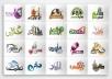 تصميم الشعارات  logo  احترافي
