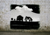 تحويل صورتك إلى صورة ڭرافتي الرسم على الحائط