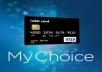بطاقات فيزا الإفتراضية و البلاستيكية من بنك mychoice