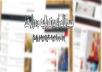 تصميم لك اي قالب مدونه وتركيب القالب علي مدونتك