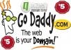 نحجز لك دومين .com من جودادي بلوحة تحكم خاصة ب 5 دولار فقط