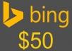 اعطائك كوبون اعلانات بينج 50$ امريكي