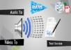 تفريغ أو كتابة محتوى صوتيات أو فيديو في ملف word أو PDF باللغة العربية