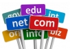 حجز دومين بالامتداد الذي تريد .com .net .org الى اخره