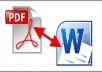 تحويل ملف pdf الى wordوللعكس