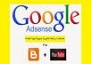 سأصنع لك حساب أدسنس مع قناة يوتيوب ومدونة ربحية مع دوماين