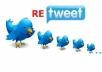 100 ريتوتي على منشورك في التويتر لمدة 5 ايام ب5$