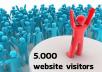 اجلب لك 5000 زائر لموقعك او مدونتك