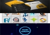 تصميم 10 بطاقات عمل بزنس كارد لك بالاضافة لمقدمة احترافية بالاضافة لشعار احترافي ومفاجأة اخرى