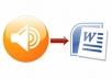 تفريغ الملفات الصوتية و الفيديو الى ورد