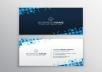 بتصميم بطاقه اعمال Business card