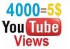 سأقوم بإعطائك 4000 مشاهدة مع 500 إعجاب للفيديو الخاص بك و 15 تعليقات لليوتيوب