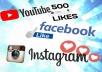 تزويد صفحات 1000 لايك و مشترك حقيقي لصفحتك على Facebook و instagram و Youtube