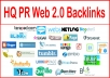 أنشر رابطك في 1000 web 2.0 backlinks باكلينك عالية الجودى ب5