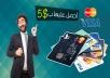 بطاقة فيزا   ماستر كارد بلاستيكية تعمل مع ATM  الصراف الألي  في بلدك