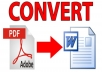 تحرير ملفات pdf و تحويلها الى word بسرعة تامة كل 40 صفحة مقابل 5 دولار