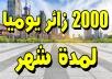 2000 زائر يوميا حقيقي و أمن لموقعك لمدة شهر من مواقع التواصل الإجتماعي