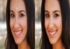 إزالة حبوب الوجه والهالات السوداء من الصورة بالفوتشوب