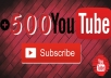 اضافة 500 مشترك لقناة اليوتوب