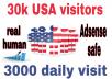 جلب 30000 زيارة حقيقية لموقعك من الولايات المتحدة الأمريكية