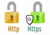 تحويل الموقع منhttp لhttps مقابل 5$ اجعل موقعك محبوب لجوجل