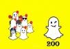 إضافة 200 متابع عربي على سناب شات بجودة عالية
