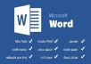 تنسيق مستند ال word مقابل 5 دولار فقط لل 10 صفحات