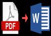 تحويل ملف الpdf إلي word بصورة إحترافيه و بدقة إملائيه عاليه
