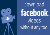 تحميل فيديو من موقع Facebook