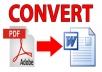 كتابة اي تحويل 100 صفحة pdf الى word