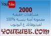 2000 مشاهده الي 22 الف مشاهده لفيديو يوتيوب