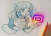100 تعليق من اختيارك من طرف البنات فقط على انستغرام