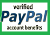 حساب بايبال مفعل ببطاقة فيزا مع هدية 1 دولار
