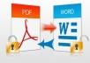 تحويل ملفات PDF إلى word وبالعكس