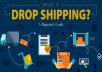 كورس في مجال DropShipping لكسب المال باللغة العربية لأول مرة