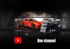 تصميم خلفية قناة يوتيوب جذابة ومميزة  YouTube interface