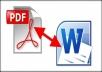 تحويل ملفات PDF إلى وورد