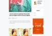 تحويل تصميم صفحة موقع إلى HTML CSS Javascript Jquery