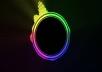 عمل فيديو موسيقي علي شكل Audio Spectrum