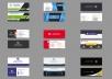 تصميم بطاقات العمل باحترافية و باسرع وقت ممكن