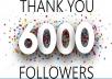 6000 متابعين إنستغرام