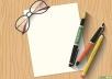 كتابة المحتوى باللغتين العربية والانكليزية بكل المجلات وعمل الواجبات والتقارير المدرسية والجامعية