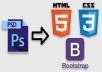 سأحول ملف psd إلى HTML5  CSS3 باستخدام آخر اصدار ل Bootstrap