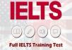 نموذج كامل لاختبار الأيلتس  4 مهارات  مع الحلول النموذجية