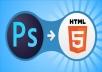 تحويل ملفك أل PSD الي HTML5 Code فقط 5$