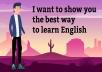 سأعلمك الانجليزية بالقراءة والاستماع والمحادثة